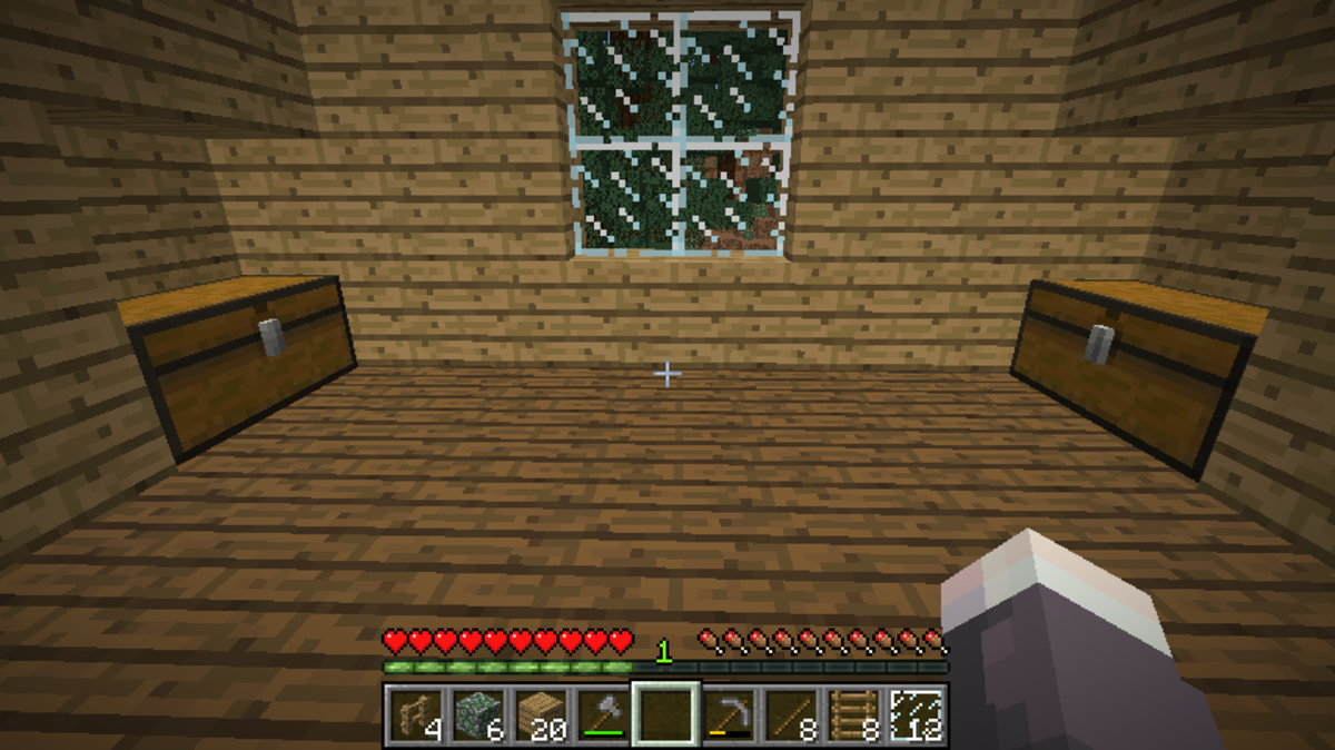 Add chests to the nooks in the loft for maximum loot storage!