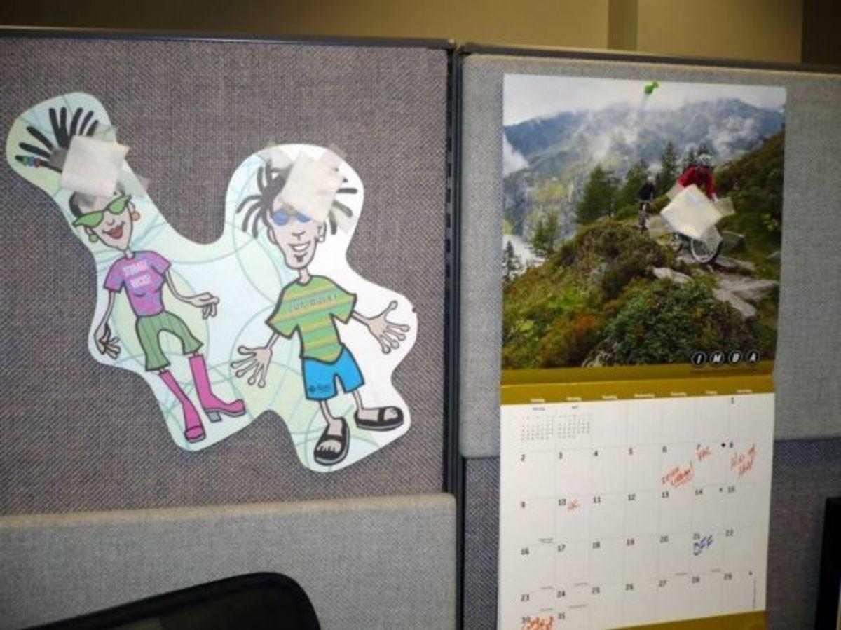 Not even my IMBA calendar was safe!