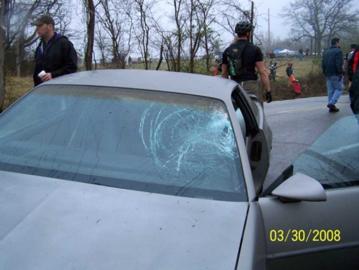 Here is the car that hit me.