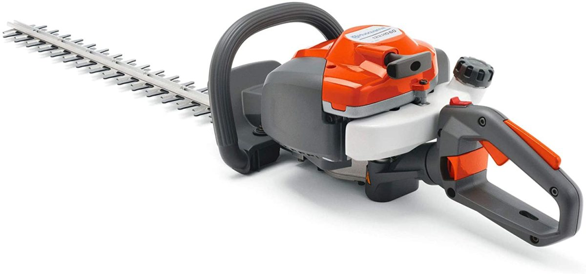 The Husqvarna 122HD60 21.7cc Gas 23.7-in Dual Action Hedge Trimmer.