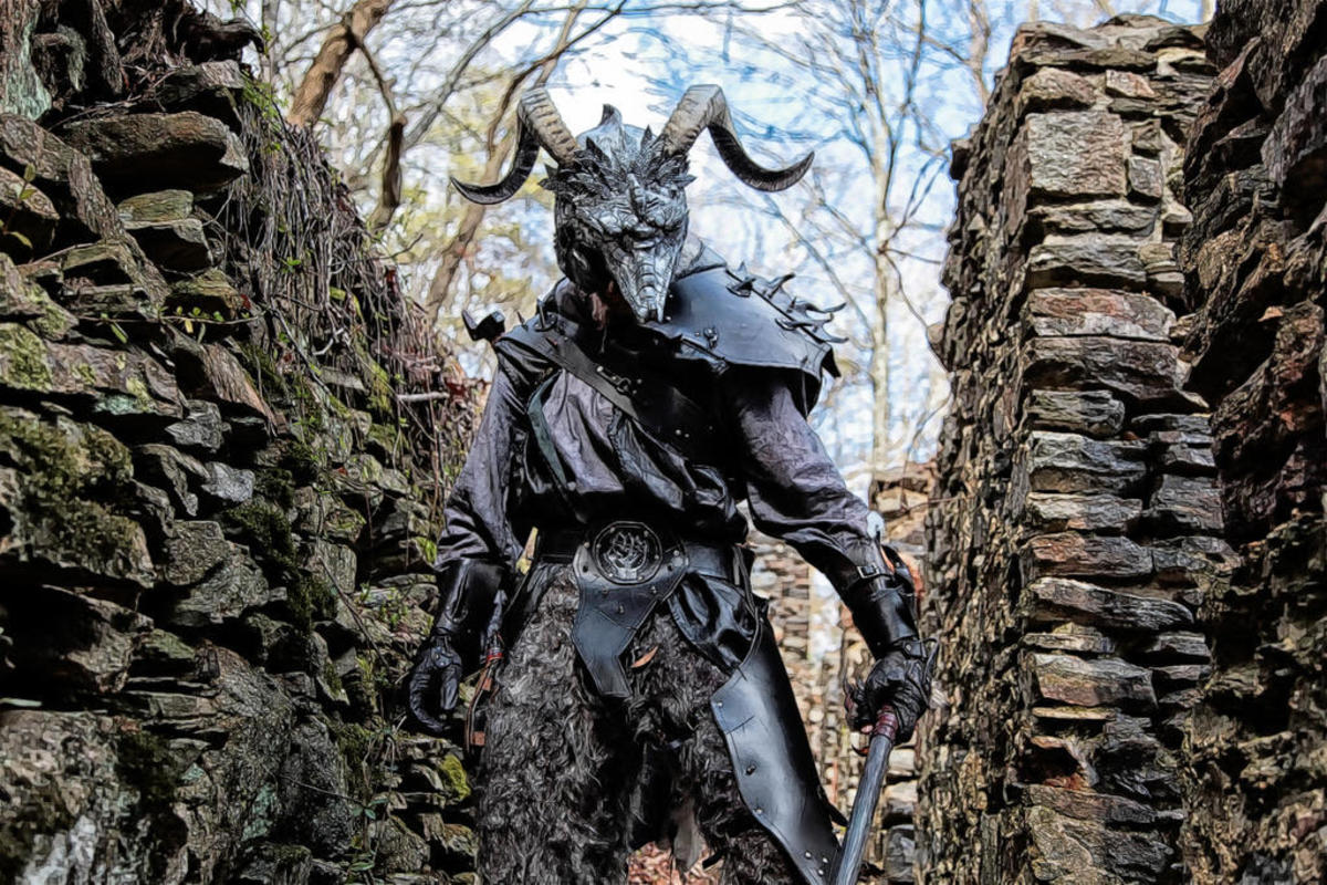 "A depiction of a trolloc, the monstrous creatures that destroy the main characters' village in the ""Wheel of Time"" series. It is eventually rebuilt, but the event signifies a clear ""point of no return"" for the characters from there."