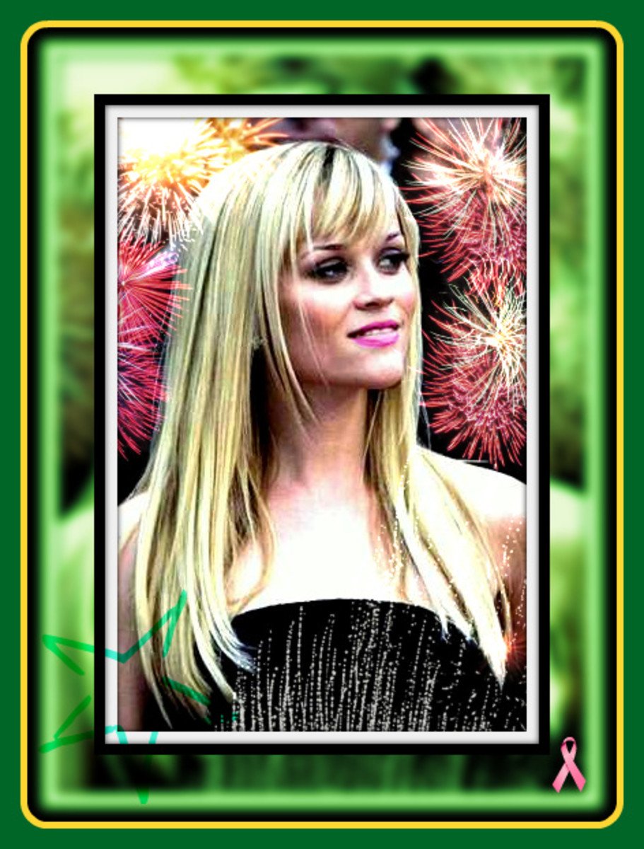 REESE WITHERSPOON WITH LONG HAIR AND FIREWORKS DRESS
