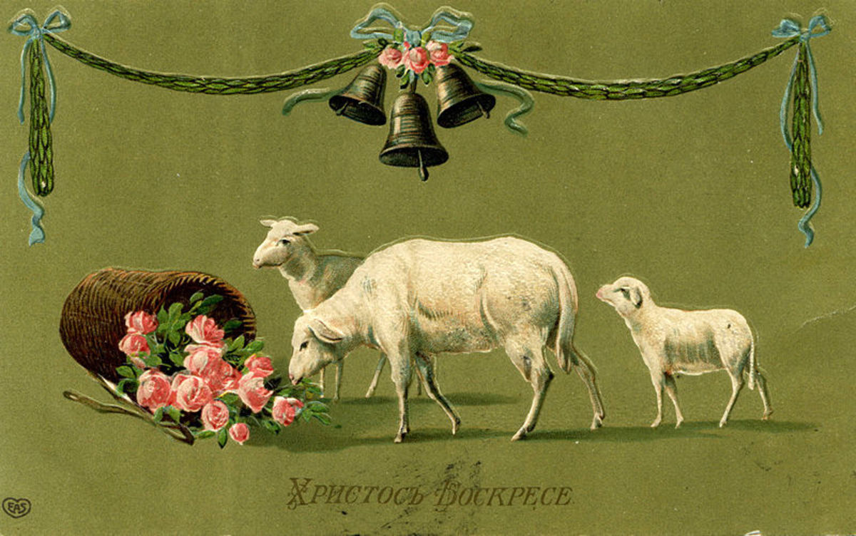 I love the colors of this Russian Easter Postcard.  Its so pretty.  Photo 4