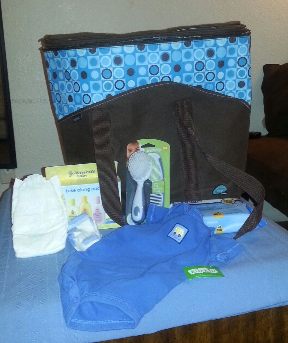 These are a few of the things you can include in the game. Open the packages and add a baby bottle and pacifier.