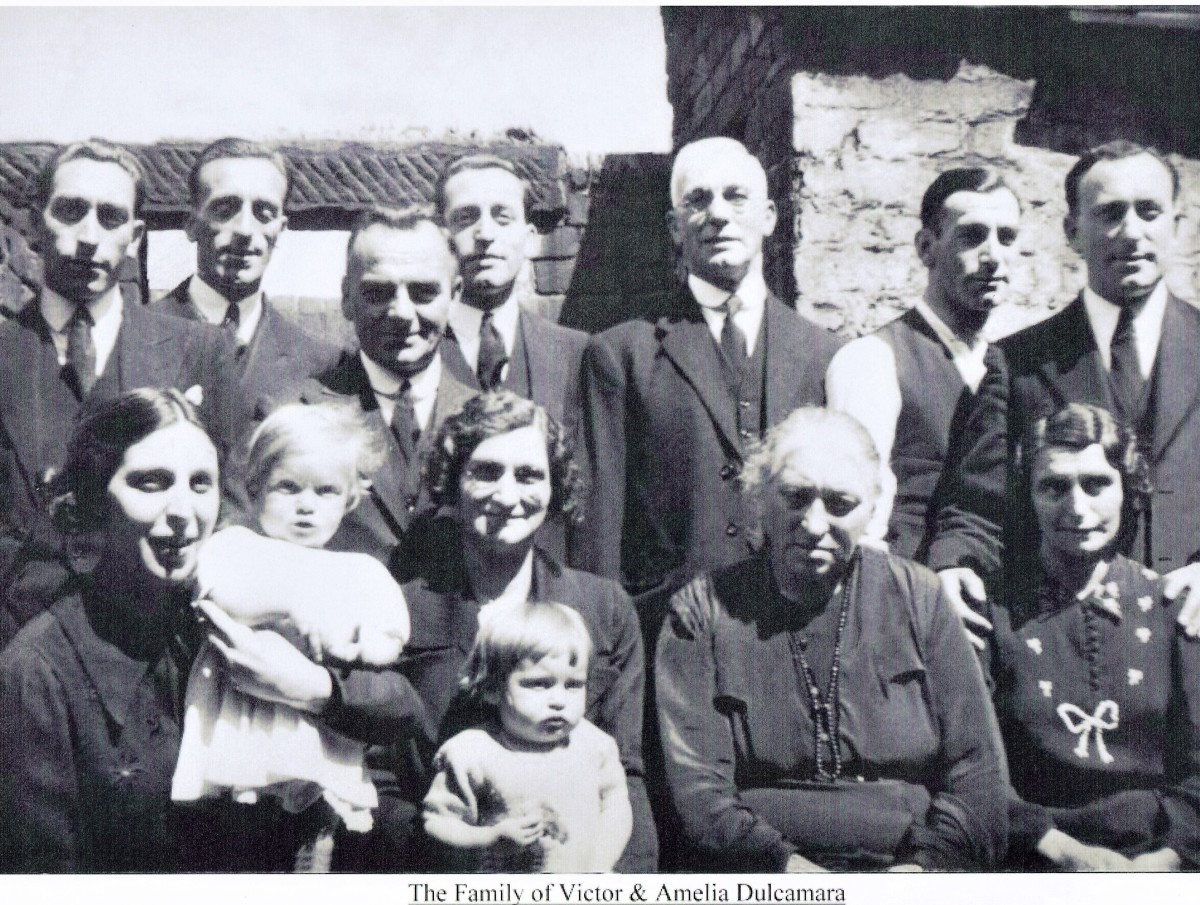 Mary Dulcamara is the front row with glasses, Joseph is third from the left of the back row. The older gentalman is Amelia's brother.