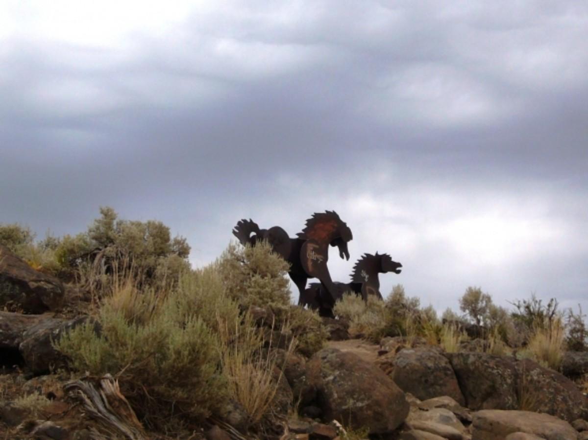 Wild Horse sculptures