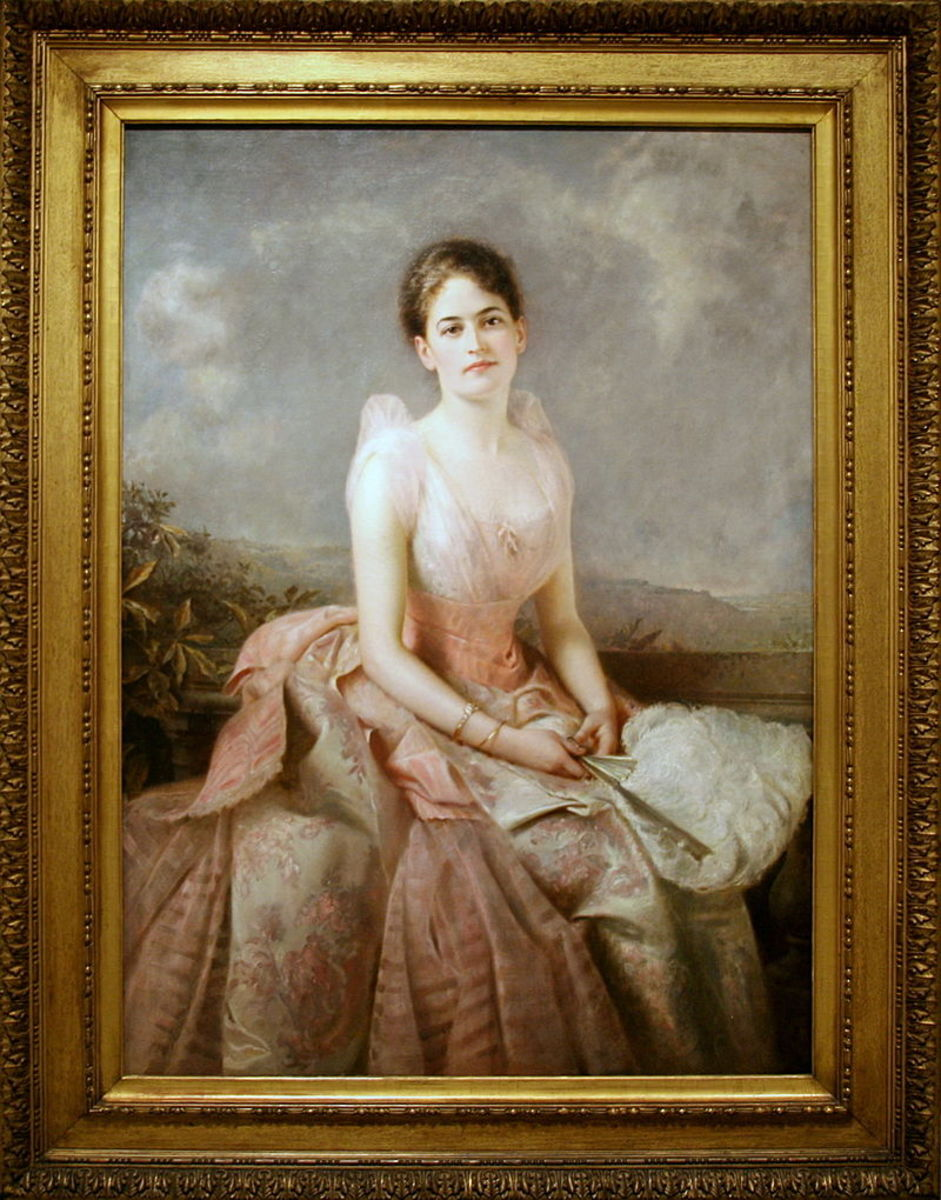Oil on canvas painting of Juliette Gordon Low
