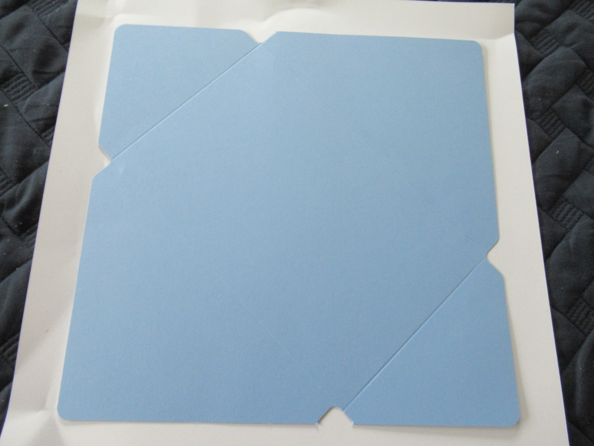 This is how your cut paper should look when all the sides are notched and scored