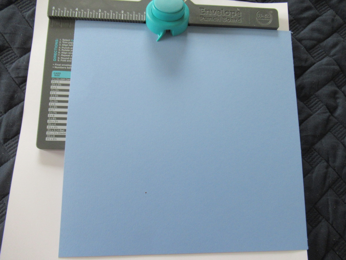Using the guide measurements, cut the paper to the size required for your envelops