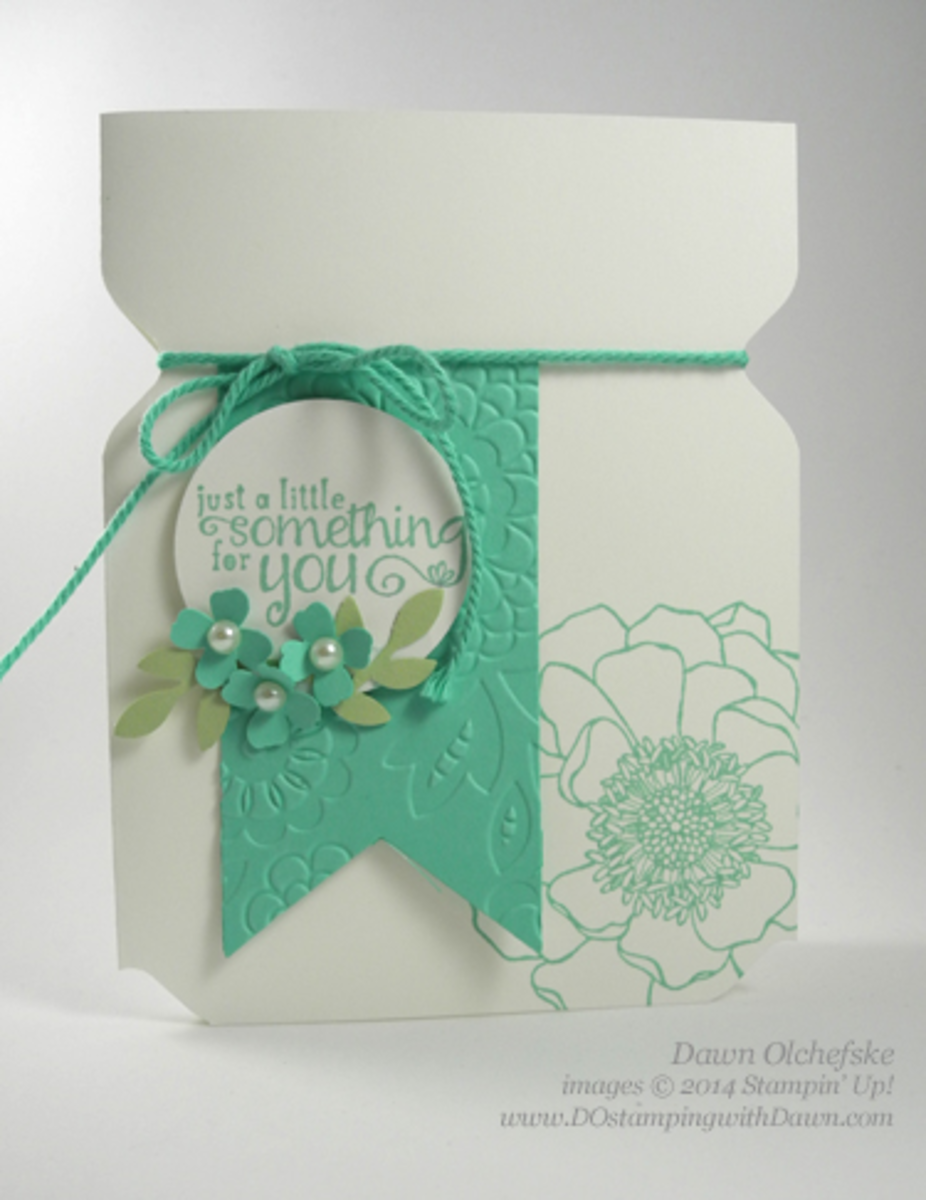This card was made with just a few simple tools and the envelope punch board