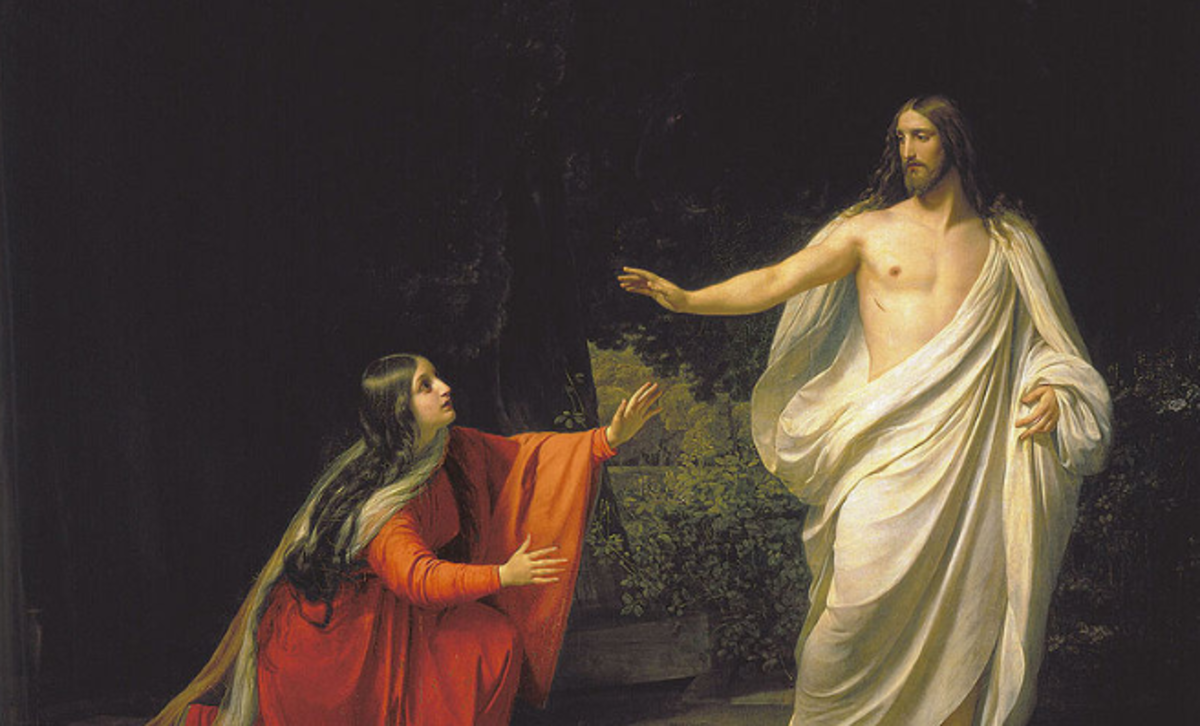 Mary Magdalene thinking Jesus was a gardener