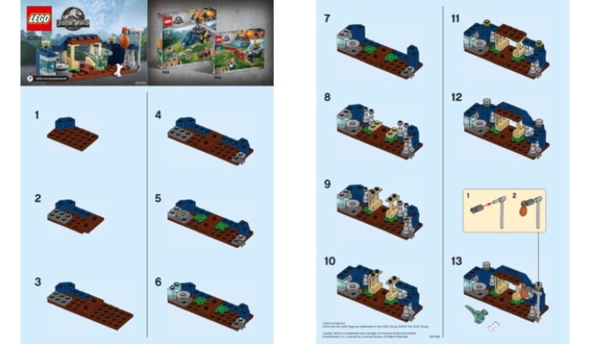 LEGO Jurassic World Polybag Set 30382 Baby Velociraptor Playpen Building Instructions