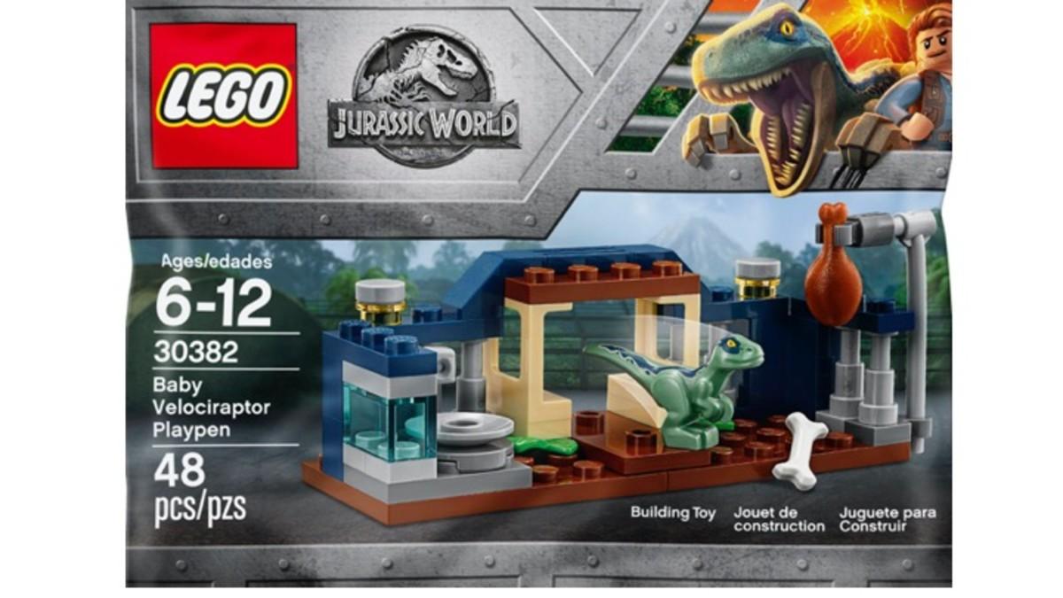 LEGO Jurassic World Polybag Set 30382 Baby Velociraptor Playpen Review