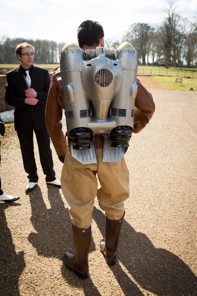 Rocketeer wedding, the dress and the jetpack | HubPages