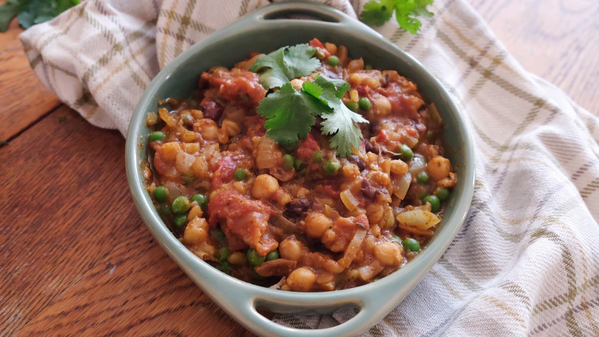Vegan Haggis Keema Curry