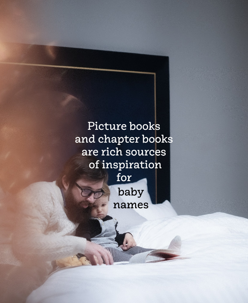 A baby name chosen from literature can rouse fond memories and evoke positive associations.