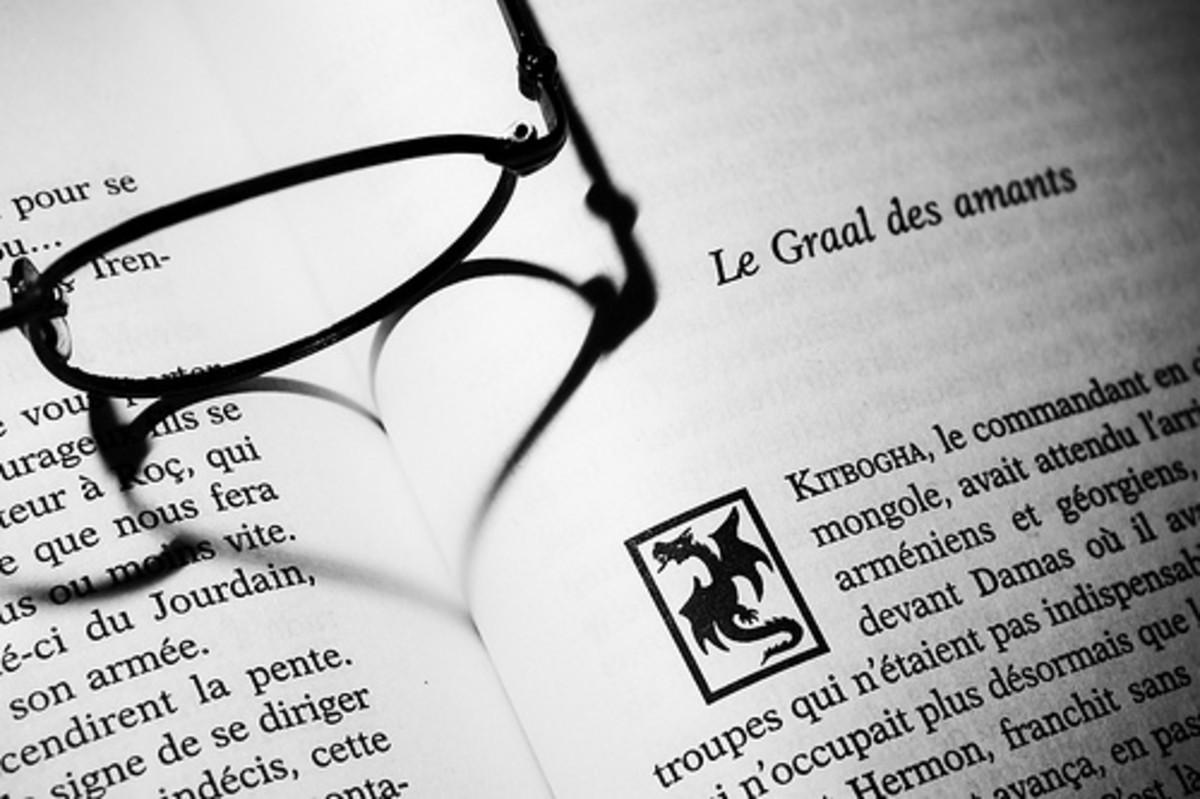 Glasses make heart shape