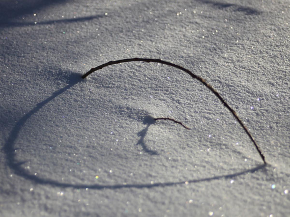 Shadow makes heart shape