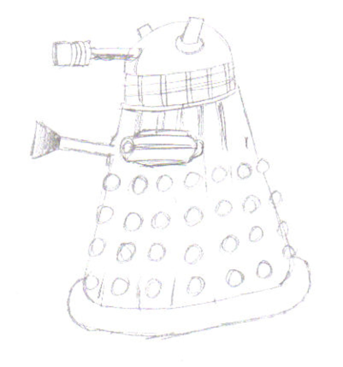 A quick build up of the Dalek drawing.