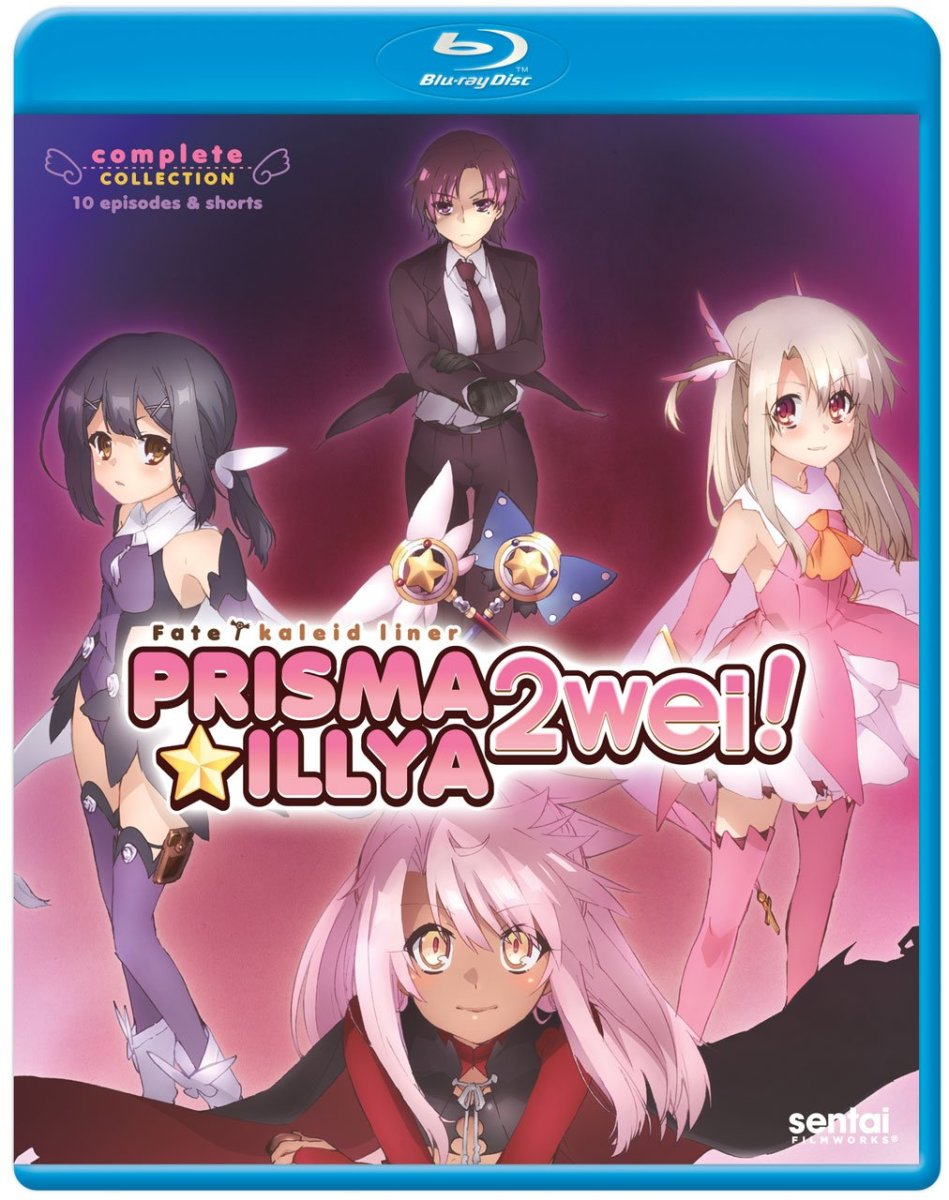 """Fate/Kalied Liner: Prisma Illya: 2Wei!"" official blu-ray cover."