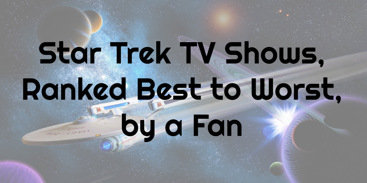 The best to worst listing of Star Trek TV series provided by a fan themselves.