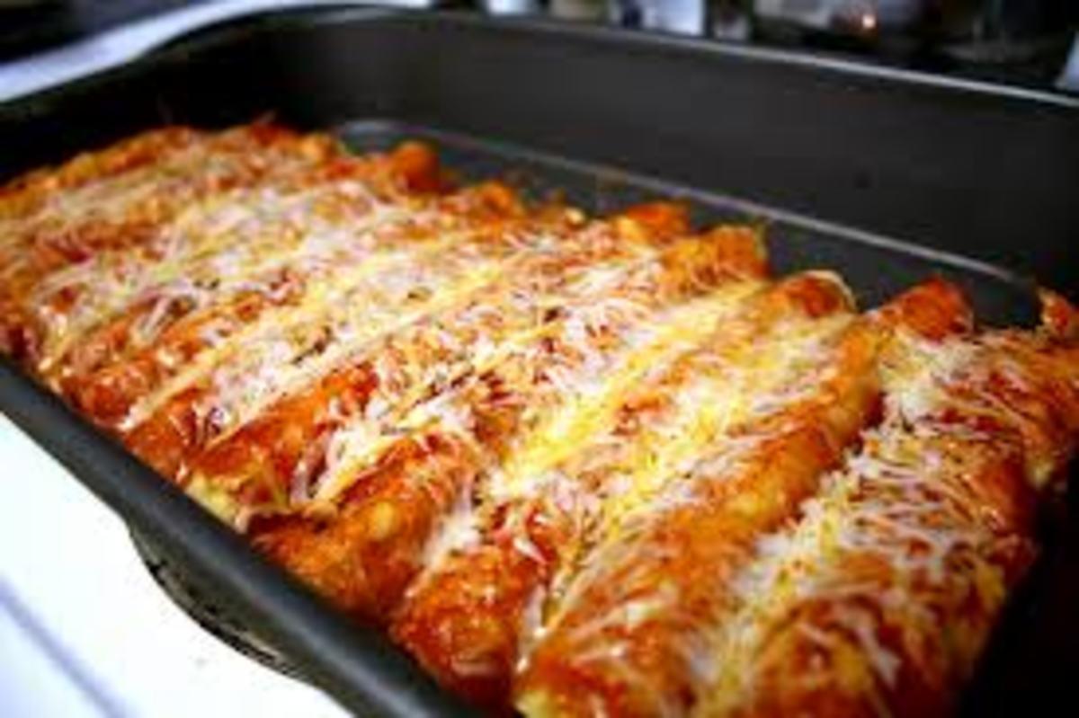 Easy Mexican food. Chicken Enchiladas.