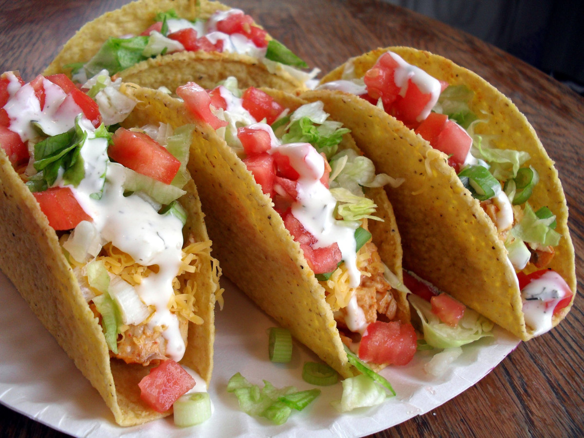 Easy Mexican Meals. Chicken Tacos.