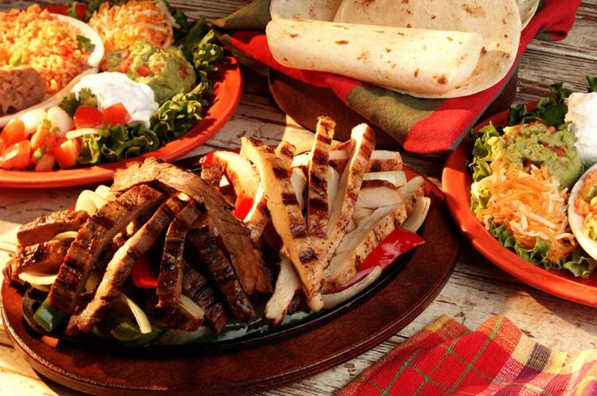 Easy Mexican recipes. Fajitas.