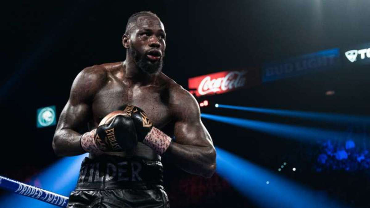 Deontay Wilder, the last American Heavyweight Champion until 2020 when he was defeated by Tyson Fury.