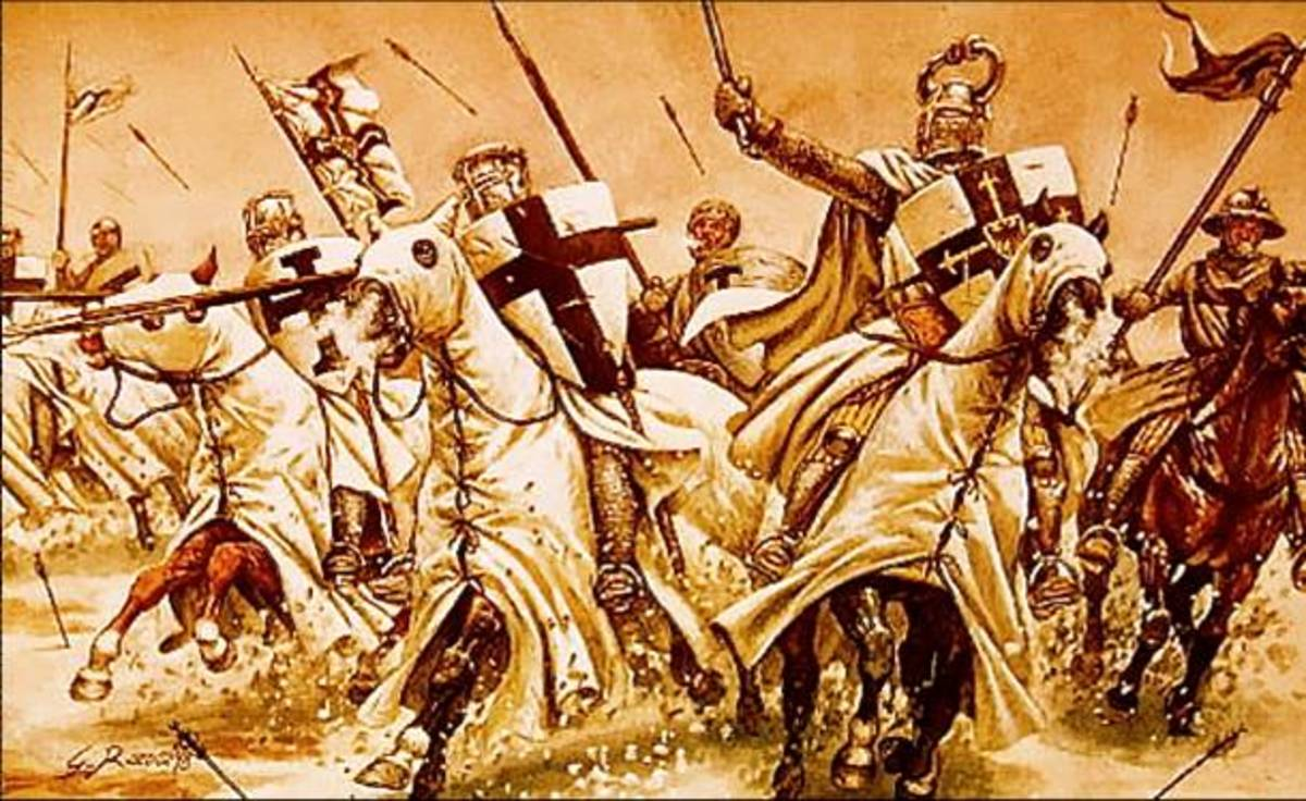 The crusader fought many battles and many people died, all this lasted for about two hundred years.