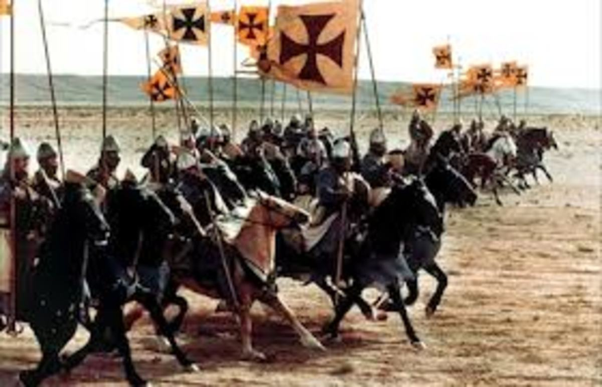 The crusader cavalry, ready for battle. All this came to nothing, it was just an idealistic religious dream of those times.