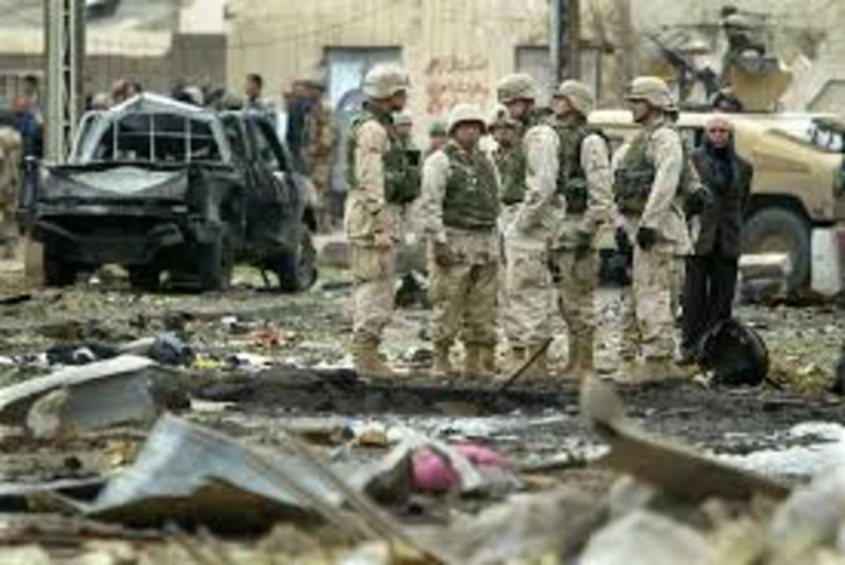 One of the many photos of the Iraq war
