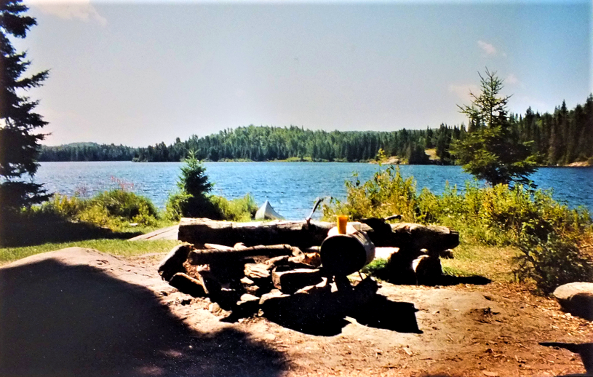Algonquin Park campsite. Taken 10 years before I could buy a digital camera.