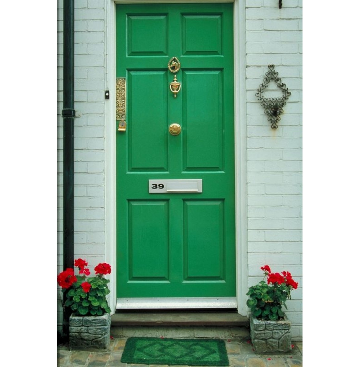 Green is a common color for both interiors and furniture, and it looks great on the outside of a house as well. Green is a refreshing hue to welcome guests, whether in a bold or neutral tone.