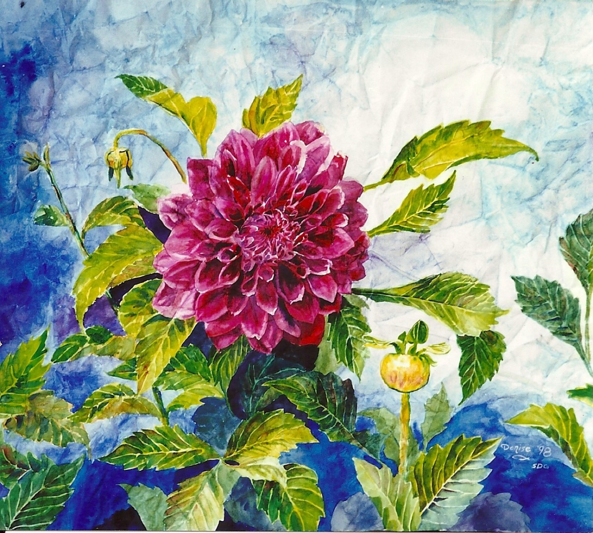 Dahlia in watercolor