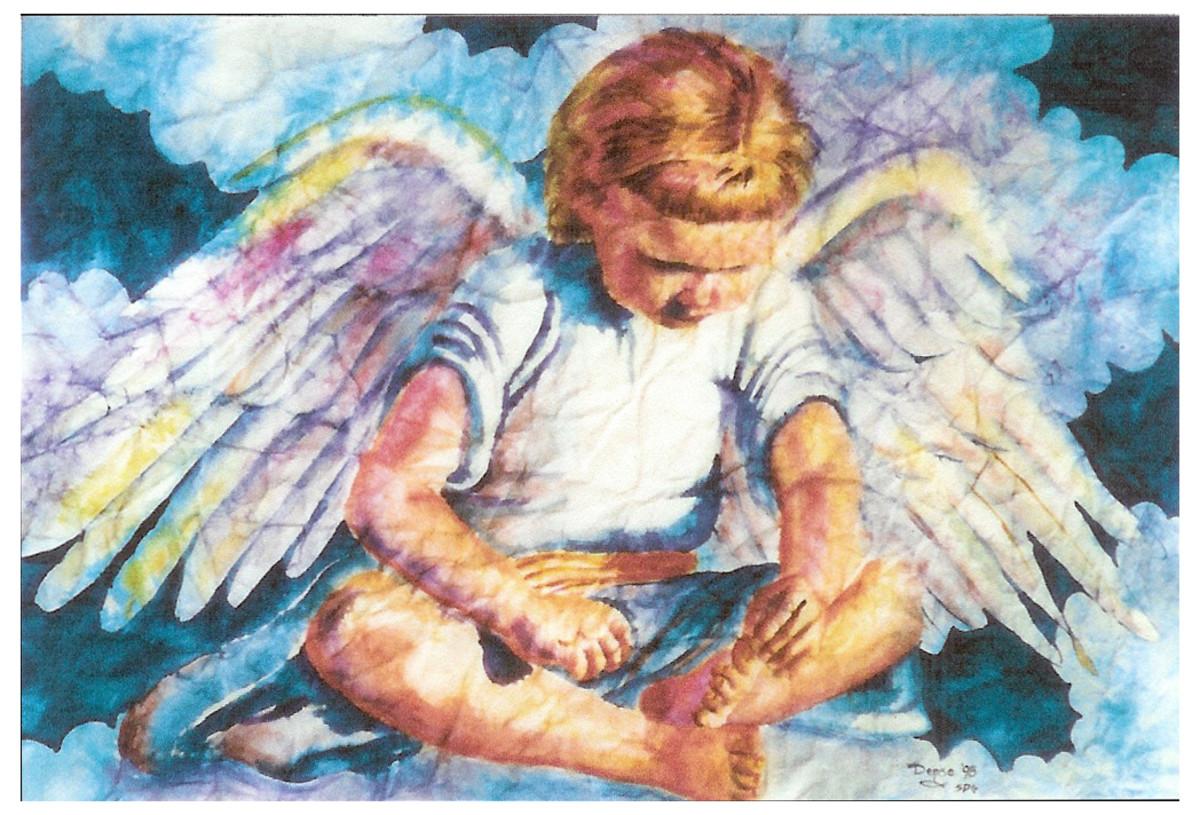 Darling Angel in watercolor