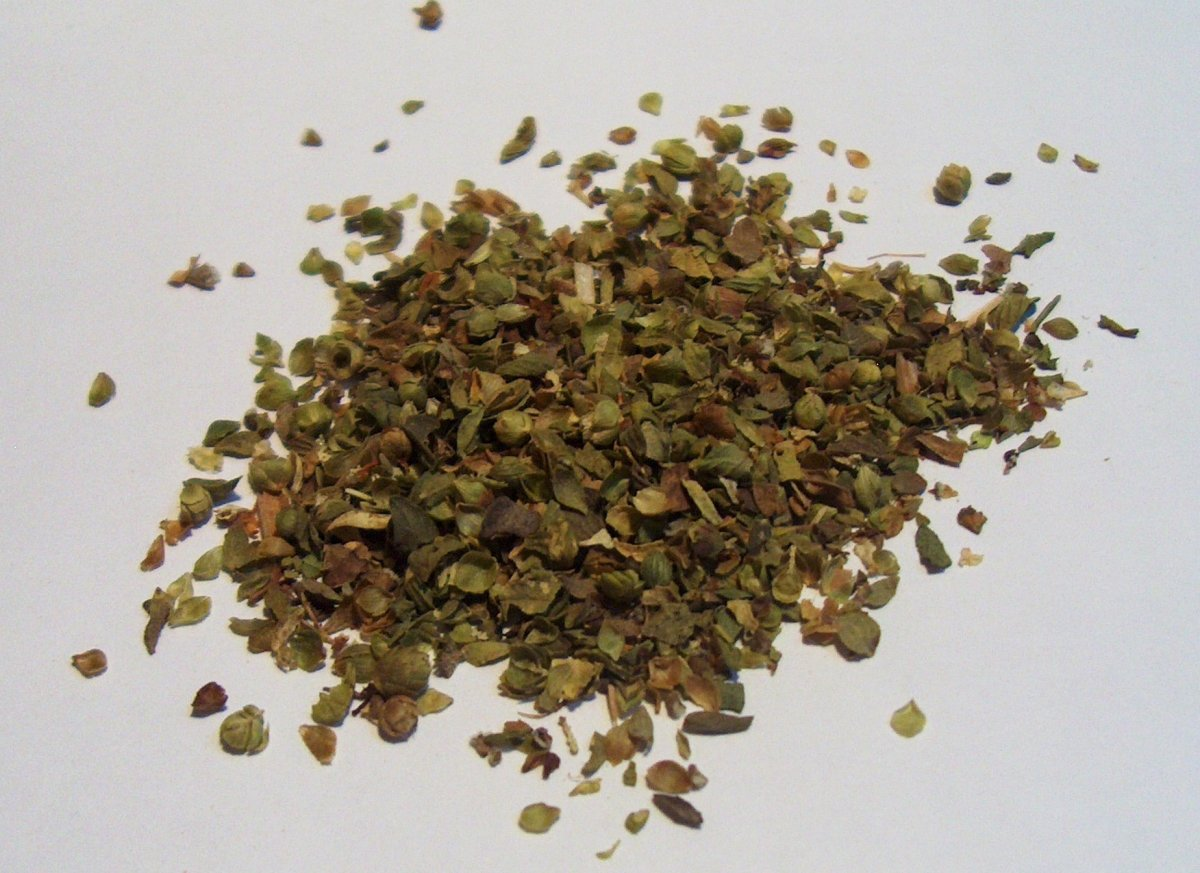 Oregano Spice Is Dried Oregano Leaves