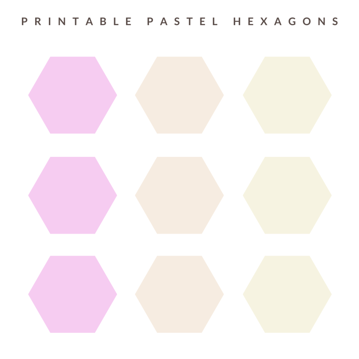 Here are some printable hexagons, perfect for adding to-do lists to!