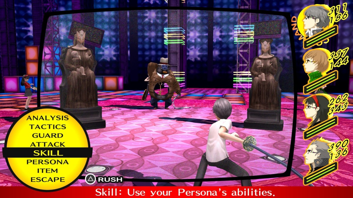 """The player character in """"Persona 4"""" can take on a number of roles in the party."""