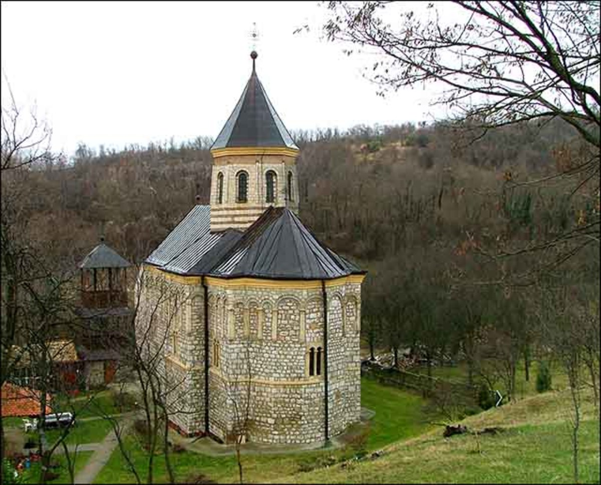 Monastery Mala Remeta, founded by king Stefan Dragutin, is one of 16 monasteries of Fruska Gora, 13th century.