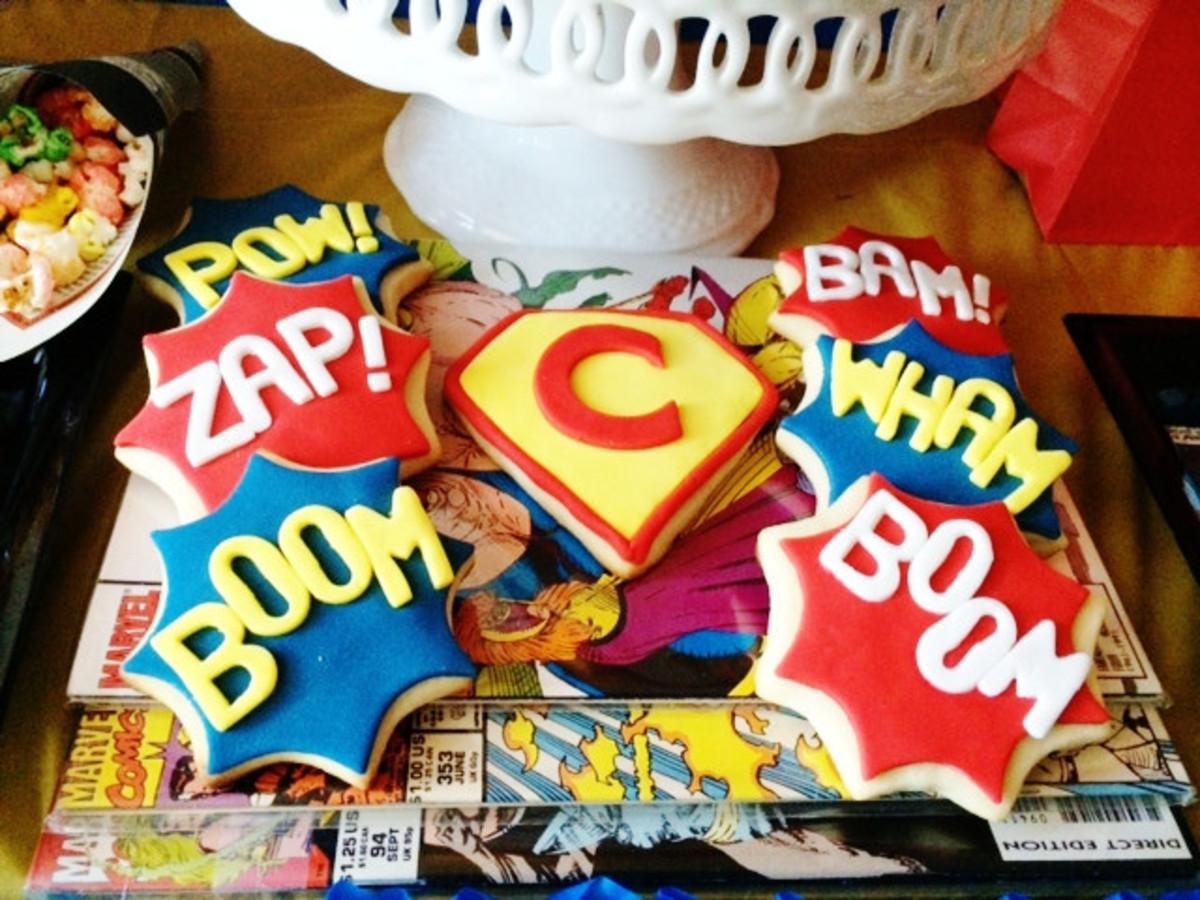 Amazing Vintage comic book cookies