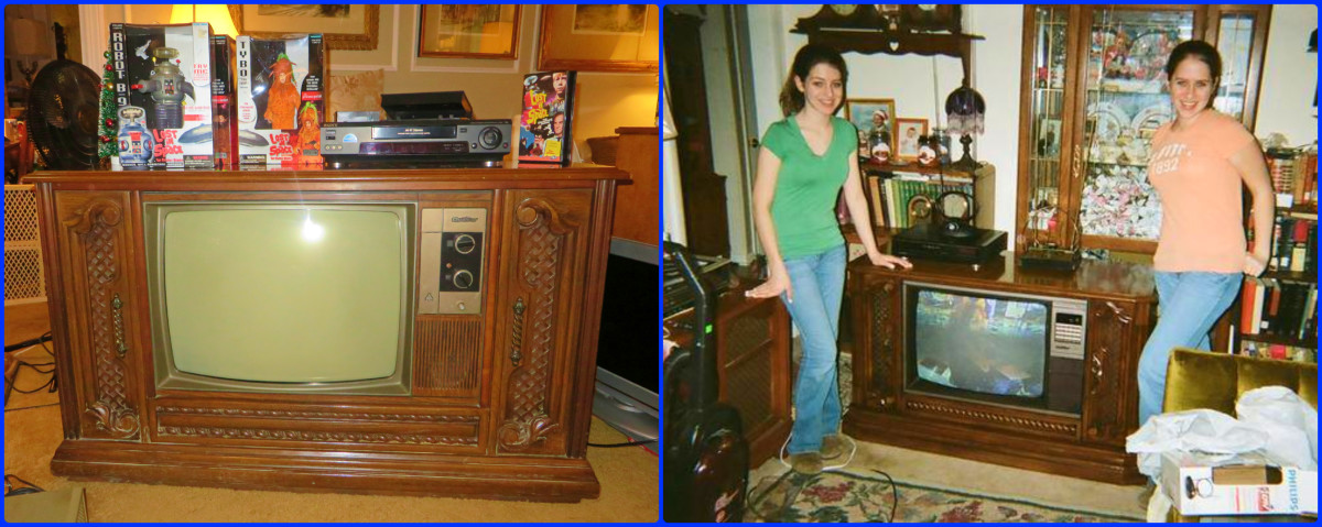 On the left is the $50.00 dollars replacement Quasar I got, on the right is a photo of my daughters many years ago with our original Quasar that got left behind during a tragic foreclosure. It took me many years to find the replacement.