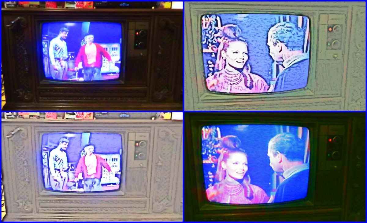 I Made a Collage of the Quasar Color Console Television Model WL9439SP, it is fun to make artwork and YouTubes for your vintage televisions, to share your hobby and joy is good therapy.