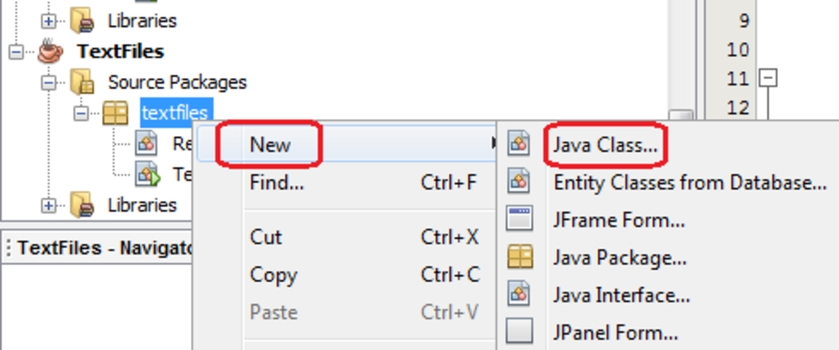 Creating a new class in Java NetBeans