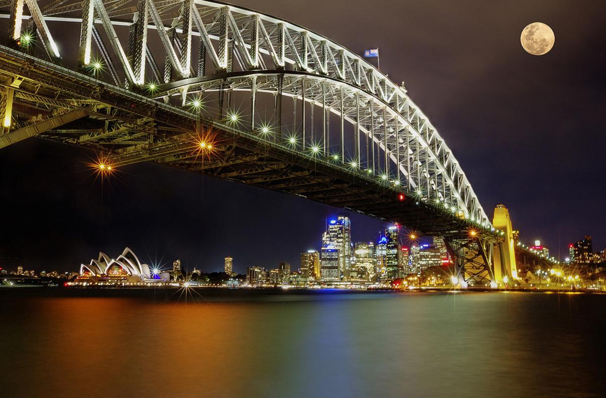 Supermoon in Sydney, Australia
