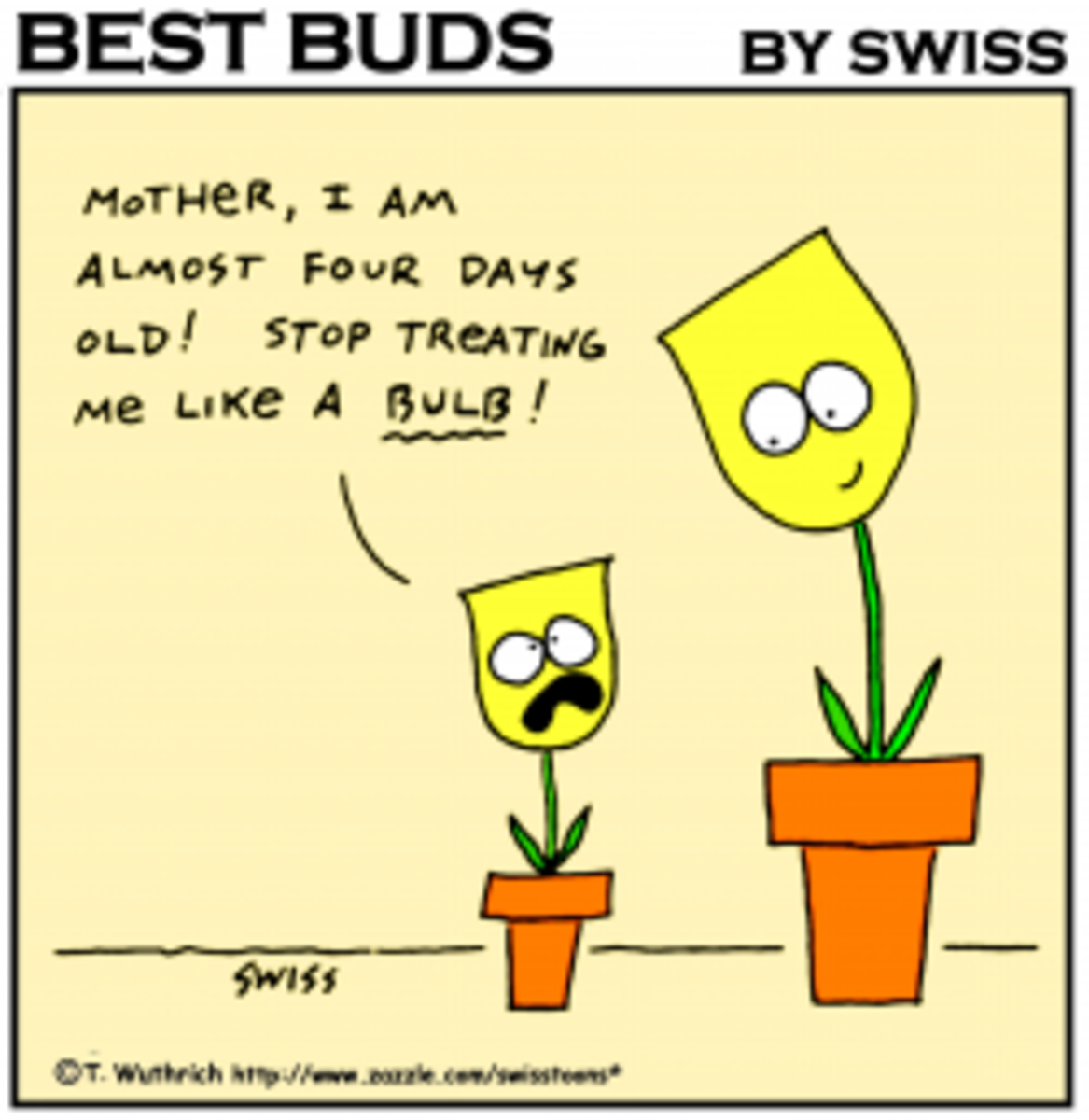 Funny Tulips cartoon and all other cartoons on this page are copyrighted by T. Wuthrich, aka SWISS.