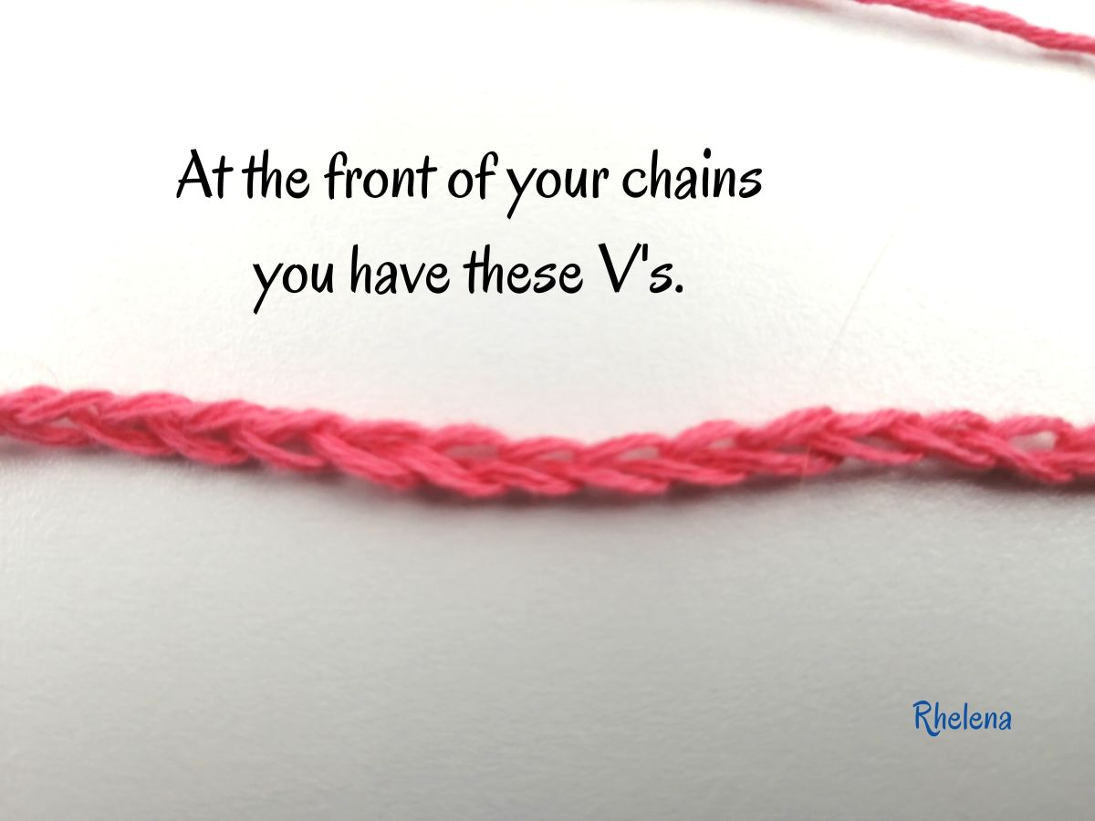 Here are the V's at the front of your chains.