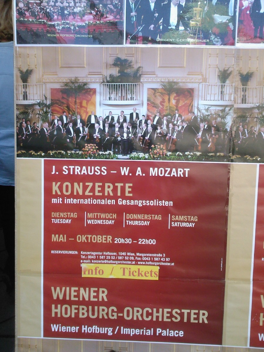 Mozart and Strauss' music is performed half of the week in Vienna during the summer months. They are truly the favourite composers of Vienna