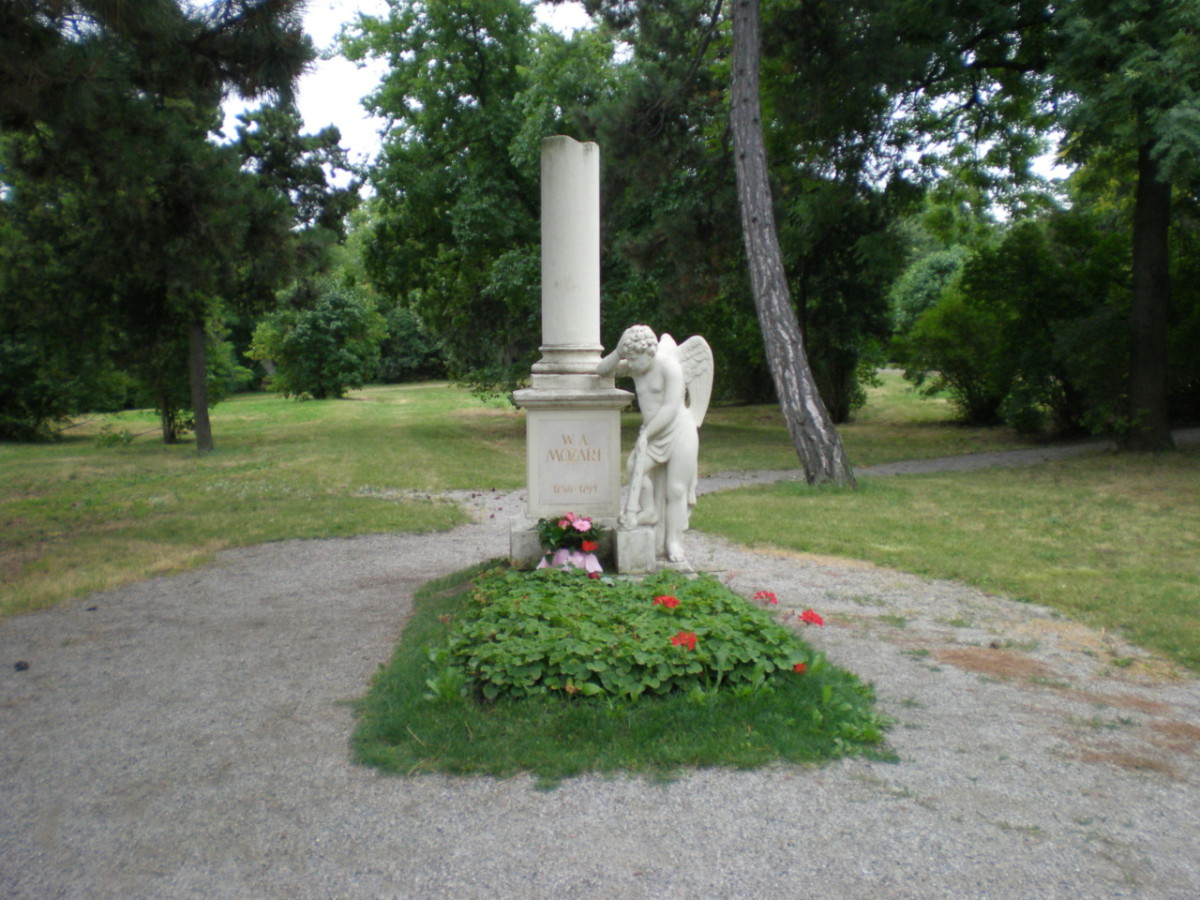 Mozart's grave at the nearby St. Marx Friedhof