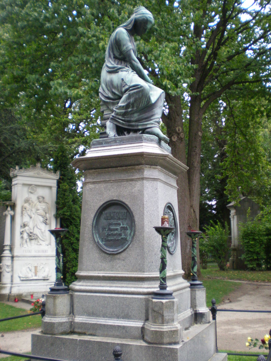 Mozart's memorial in Zentral Friedhof.